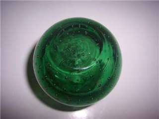 antique emerald green Glass Target Ball OR FIRE EXTINGUISHER ROUND