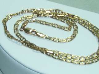 10K Solid Gold Gucci Marine Link Necklace 6.8 grams!!
