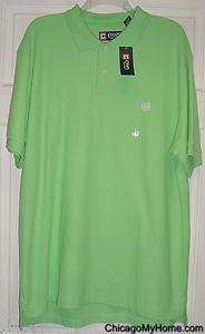 NEW CHAPS Ralph Lauren Mens Short Sleeve Solid Cotton Polo Shirt Large