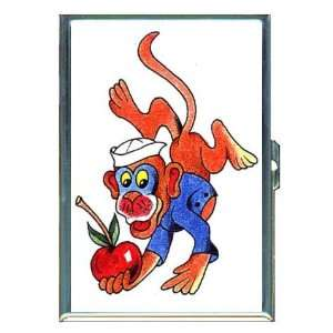 Monkey Sailor Navy Tattoo Art ID Holder, Cigarette Case or