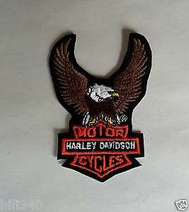 Harley Davidson Eagle Patch holding Harley Bar & shield logo 3 1/2