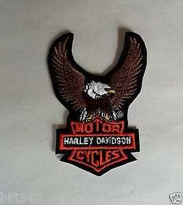 Harley Davidson Eagle Patch holding Harley Bar & shield logo 3 1/2
