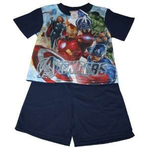 Incredible Hulk Iron Man Sleepwear Set Toddler Size 8