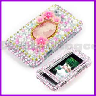 Crystal Bling Case Cover for LG VX9700 Dare Lady Cameo