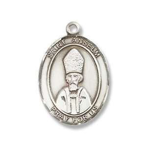 St. Anselm of Canterbury Sterling Silver Medal with 18 Sterling Chain