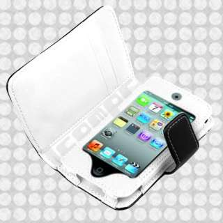 Leather Wallet Case Cover for iPod Touch 4 Gen 8GB 16GB