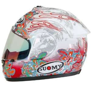 SUOMY SPEC 1R EXTREME FLOWERS CYCLE HELMET WHITE/RED MD