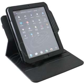 New HP TouchPad Leather Case Cover 360 Degree Rotary Black