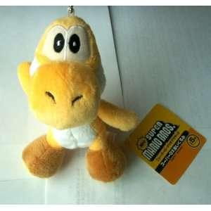 5 Super Mario Bros. Yellow Yoshi Plush Keychain