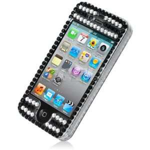 Ecell   BLACK WITH PINK CROWN BLING CASE COVER FOR IPHONE