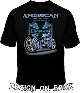 Biker American Original Chopper Back Design T Shirt