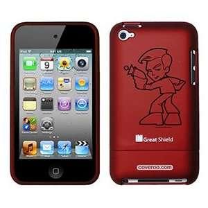 Star Trek Stylized Kirk on iPod Touch 4g Greatshield Case