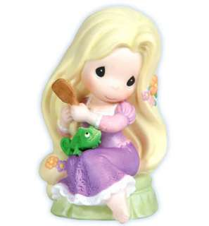 PRECIOUS MOMENTS DISNEY Figurine TANGLED Statue BRUSH HAIR Love Figure