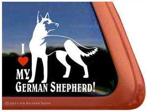 LOVE MY GERMAN SHEPHERD ~ High Quality Dog Window Decal Sticker