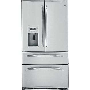 20.7 cu. ft. French Door Bottom Freezer Refrigerator   Stainless Steel