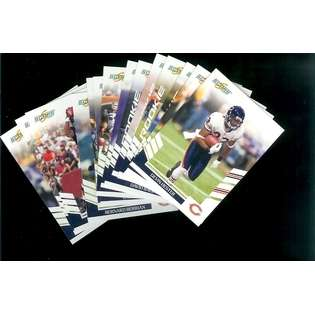 Bowman 2007 Score Chicago Bears Football Cards Team Set of 14 cards