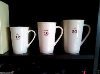 2010 Starbucks Venti Grande Tall Coffee Mug Set NEW MNT