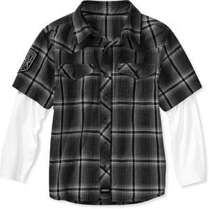 Dickies   Boys Printed Long Sleeve Plaid Shirt Boys