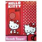 Sanrio Polka Dot Balloon Hello Kitty Beach Towel   Hello Kitty Bath