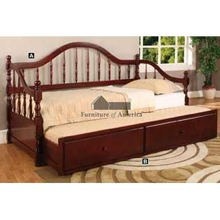 Camel Style Curved Back Day Bed Dark Cherry Wood Finish at