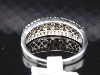 10k White or Yellow Gold Chocolate/Champagne Diamond Ring Band .50 Ct