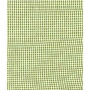 Green & White Mini Check Crinkle Challis Fabric: Arts