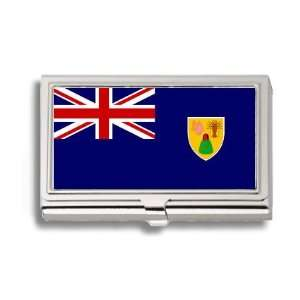 Turks and Caicos Islands Flag Business Card Holder Metal