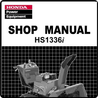 Honda HS1336i HS1336 Snow Blower Thrower Service Repair Manual 61V1500