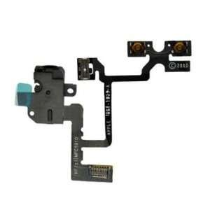 Jack Power Volume Switch Flex Cable   White Cell Phones & Accessories
