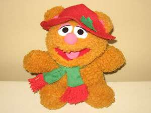 Vintage 1987 Baby Fozzie Bear Sesame Street Muppets Holiday Plush Toy