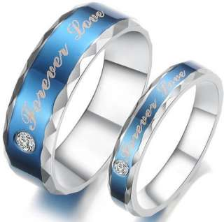Ring Set Wedding Lover Couple Pair Matching Engagement Gift Valentine