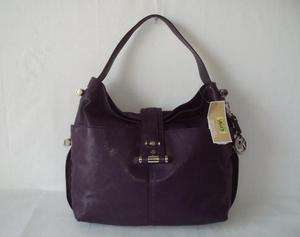 Michael Kors Gibson large Shoulder Bag Leather Purple Womens Purse