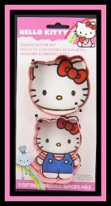 NEW Wilton **HELLO KITTY FACE & FIGURE** 2 pc Metal Cookie Cutters