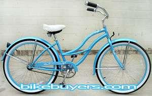 Beach Cruiser Bike Bicycle, Tahiti 26 wheel Lady women