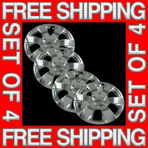 Set of 4 New 14 Chrome Hubcaps Center Hub Caps Wheel Rim Covers Free