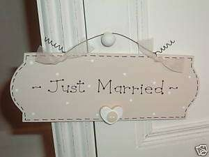 WEDDING GIFT PRESENT * JUST MARRIED * Wooden Door Sign