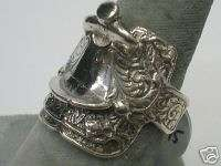 Horse Saddle Ring Sterling Silver (1074)