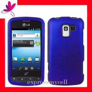 METALLIC BLUE Hard Case Cover Straight Talk NET 10 LG OPTIMUS Q