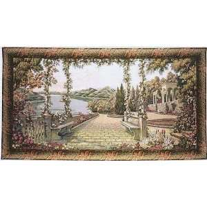 Tapestry, Extra Large, Wide   Elegant, Fine & Wall Hanging   Lake Como