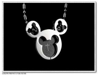 STERLING SILVER mickey mouse cross necklace beautiful