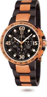 Invicta Mens Specialty Black Rose Gold Watch NEW