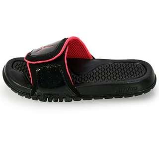 NIKE JORDAN HYDRO 2 (GS) BIG KIDS Size 4 Black Sandal Slide Slippers