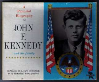 1964 JOHN F. KENNEDY President biography set (42 cards)
