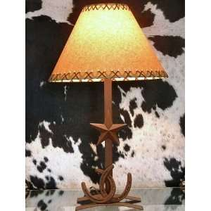 Star Table Lamp With Crossed Horseshoes (H Base)