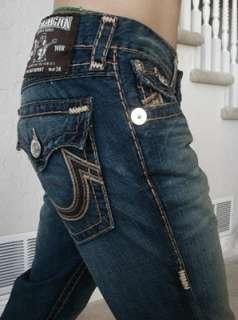 True religion mens Billy Super T chain stitch jeans in Revolver