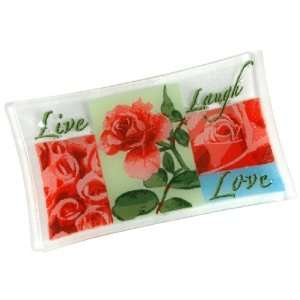 Peggy Karr Live, Laugh, Love 10 by 6 Inch Handmade Art