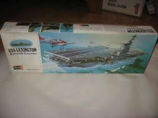 USS Lexington Aircraft Carrier Vintage Model Kit by Revell