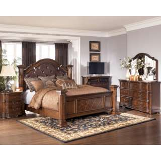 Ashley Emory California King Upholstered Headboard Brown Finish B569