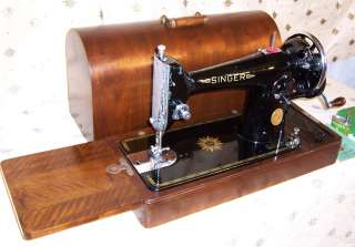 1948 Singer model 201 Hand Crank Sewing Machine Indian Star  a must