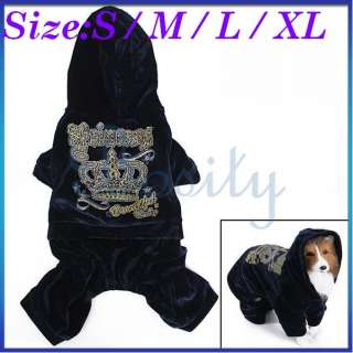 Pet Dog Puppy Hooded Hoodie Jumpsuit Coat Sports Winter Shinny Autume